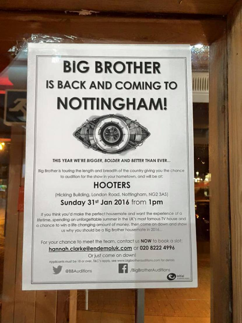 Big Brother Auditions - Sunday 31st January