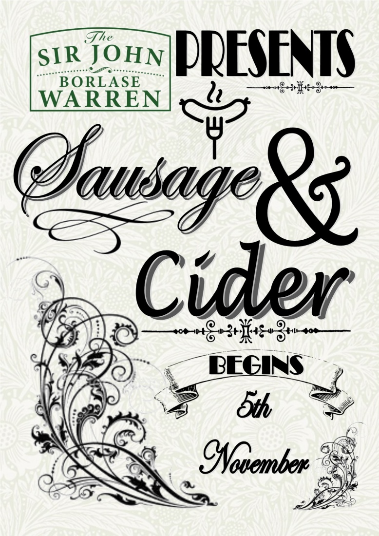 Remember Remember November 5th -7th Sausage & Cider Fest!