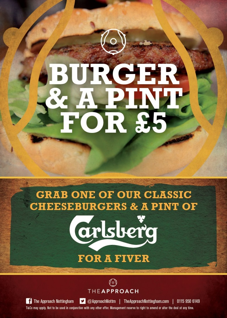 Burger and a pint for £5