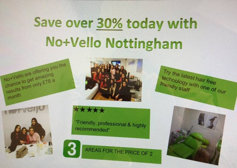 Amazing offer now available at No+Vello Nottingham!