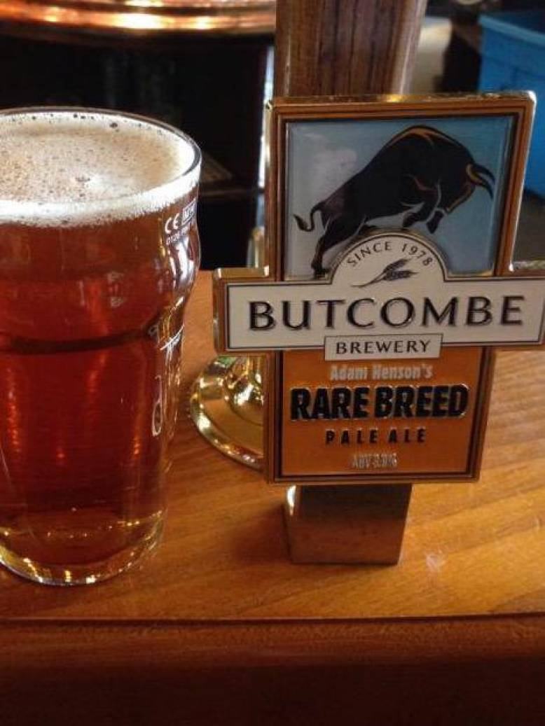'Rare Breed Bitter' on the bar now.
