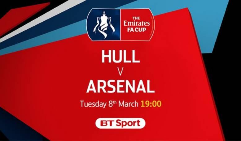 Join us for Arsenal vs Hull - Tonight at 1900