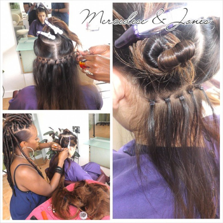 Braidless sewin extensions using Micro links