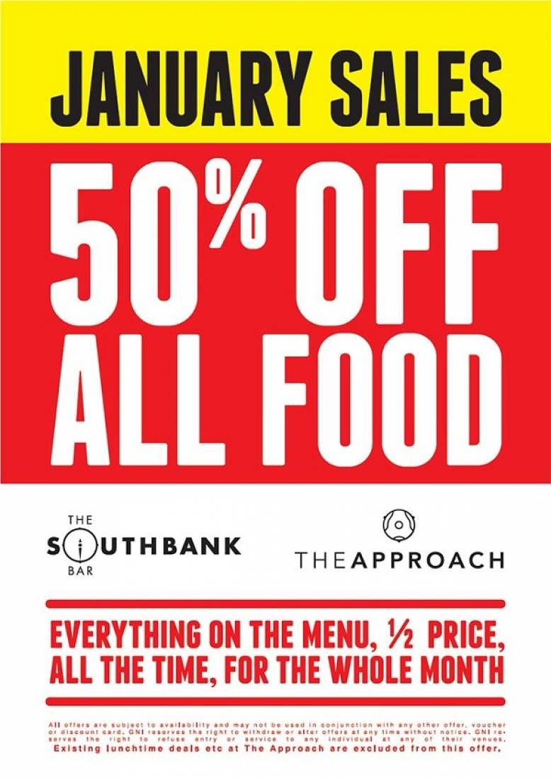 January Sale - 50% off all Food