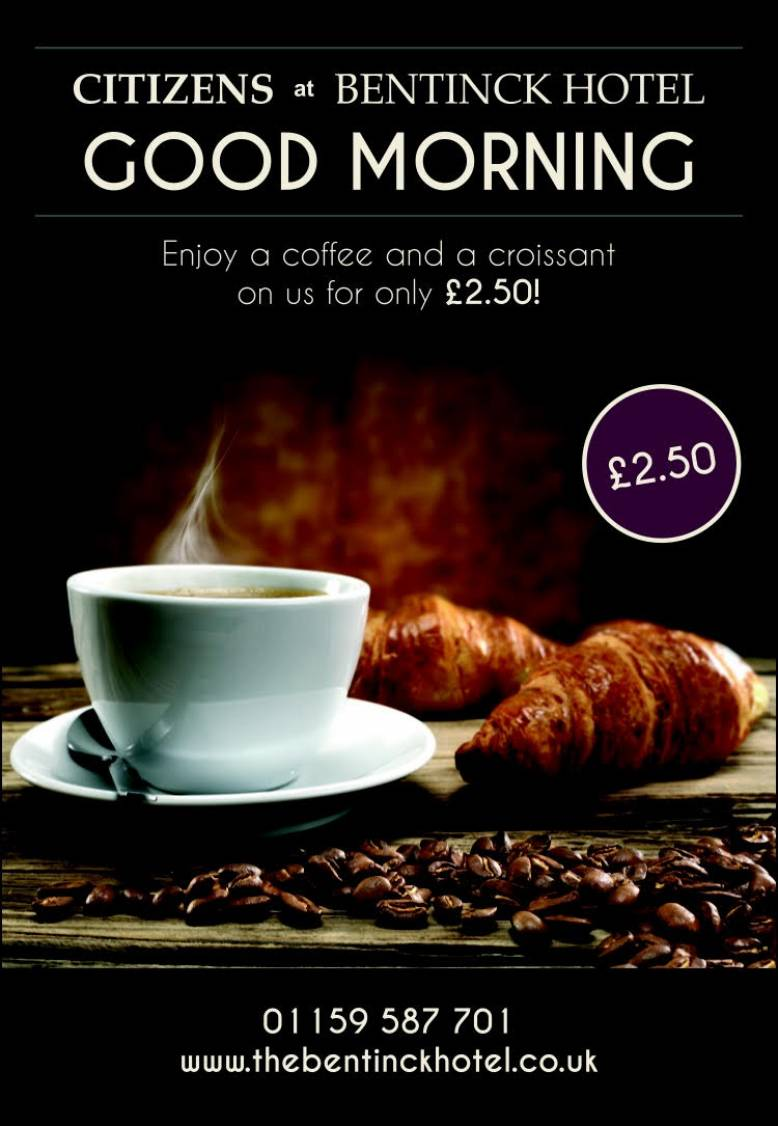 Coffee and a Croissant £2.50