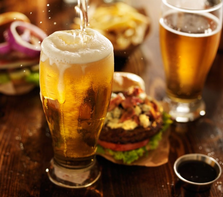 Beer & Burger - £4.50