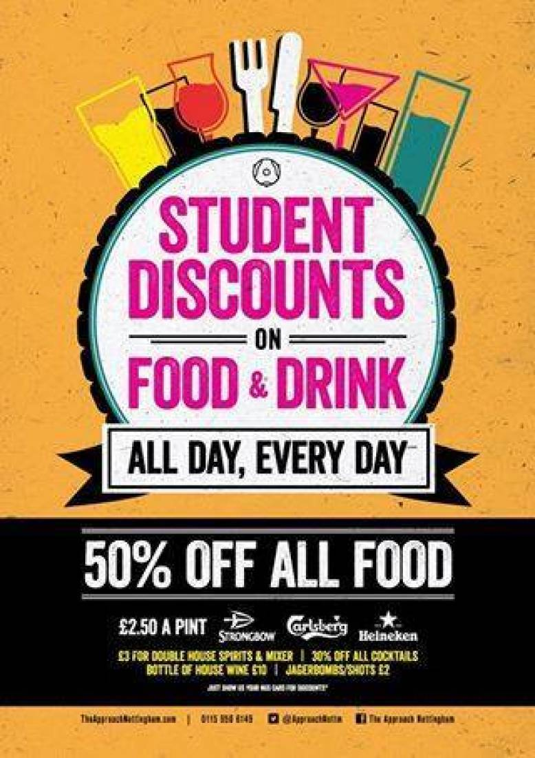 STUDENTS!.... 50% off Food* and Pints for £2.50