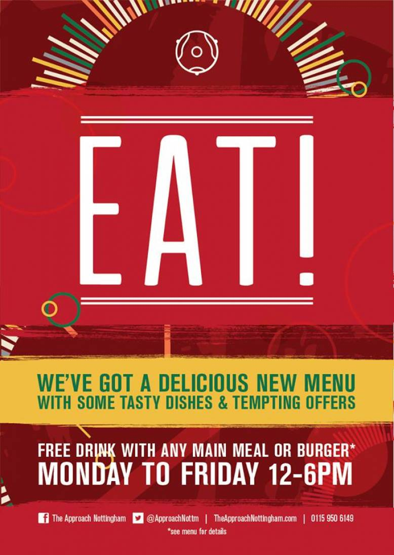 Free Drink With Any Main Meal or Burger*